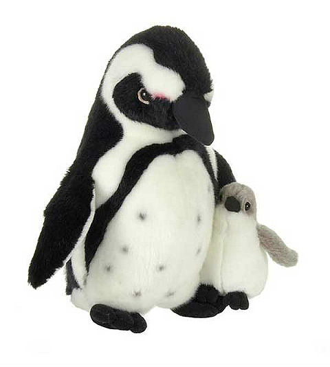 "Blackfoot Penguin & Chick Plush (11"" Tall)"