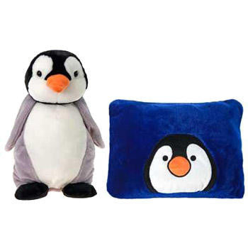 Penguin Plush Stuffed Animal Peek-A-Boo Pillow Pal Toy Gift