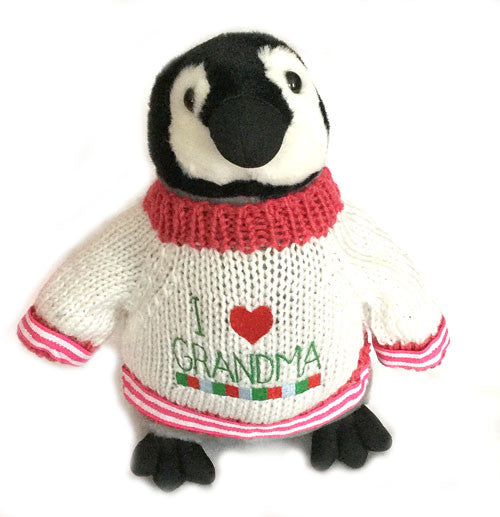 "I Love Grandma Penguin Plush (10"" Tall)"