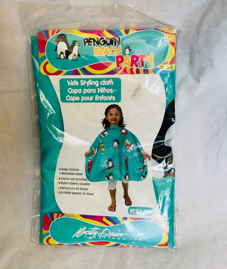 Kids Penguin Beach Poncho