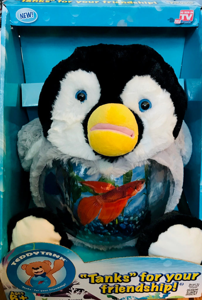"Tanks Charming Penguin Fish Tank Bank (14"" Tall)"