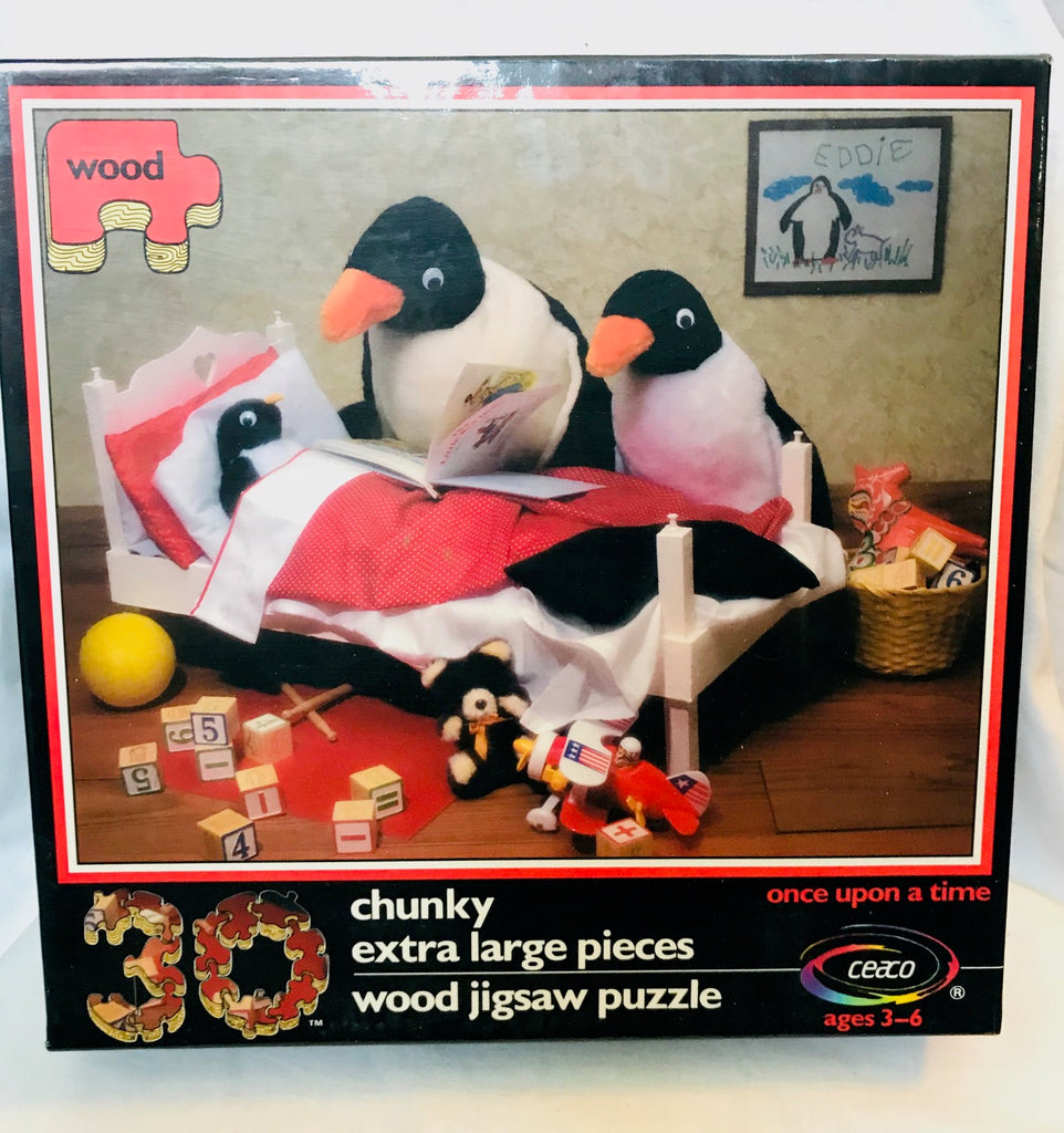 Kids Penguin Bedtime Jigsaw Puzzle (Ages 3 -6)