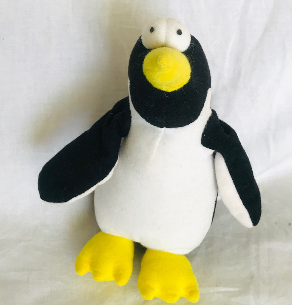 "Google Eyes Penguin Plush (6"" Tall)"