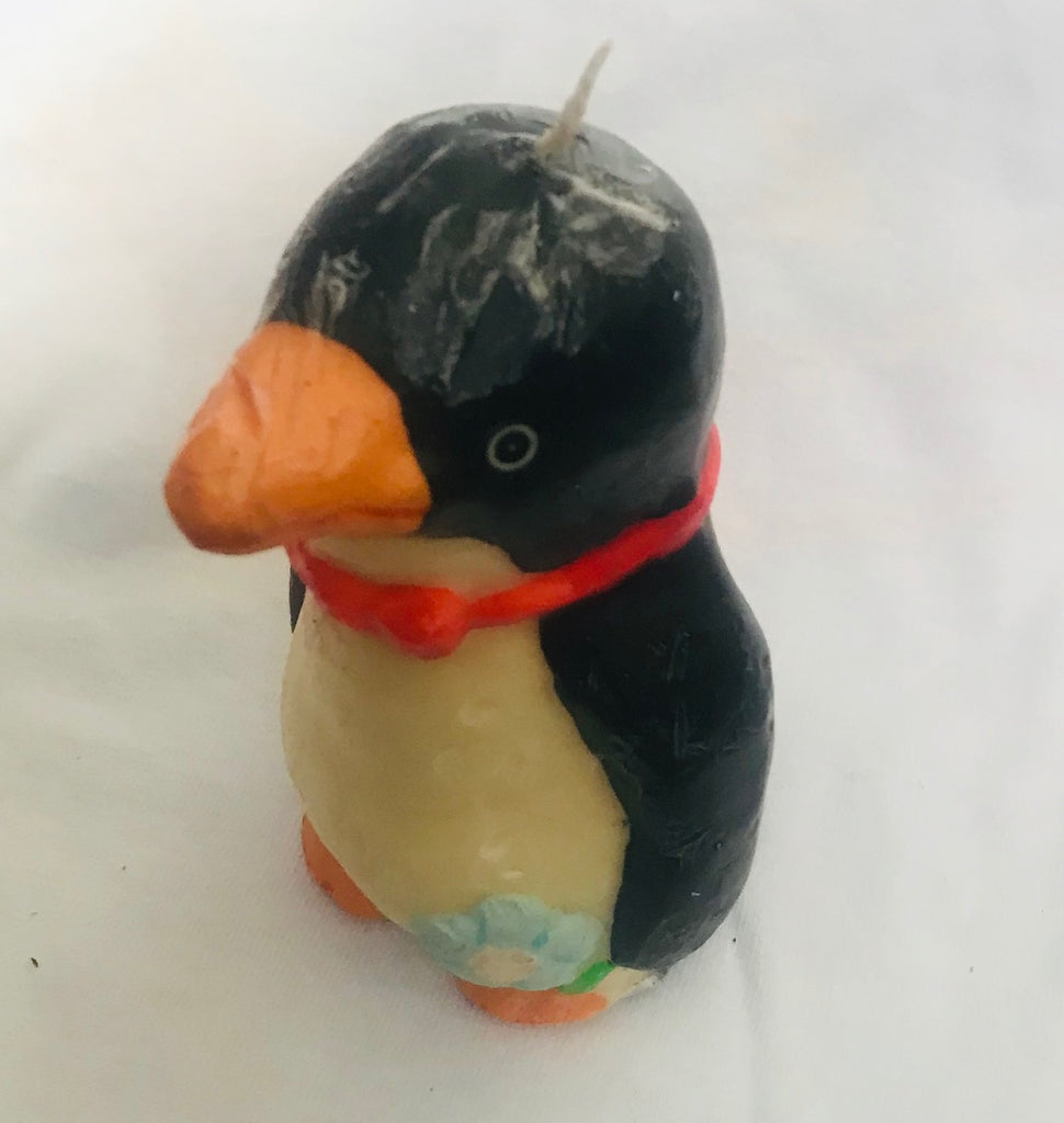 "Hand Crafted Penguin Candle (4"" Tall)"