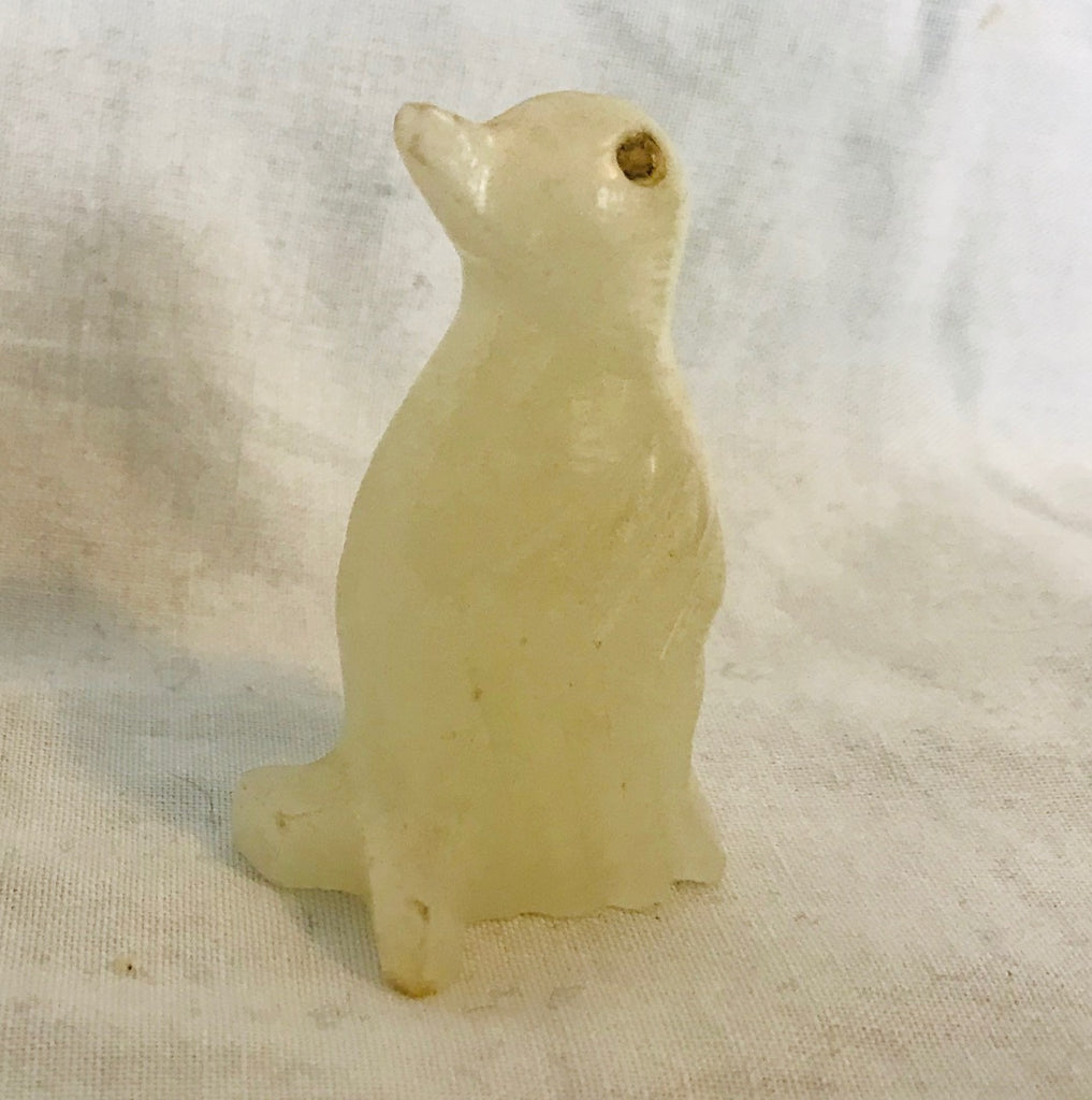 "Solid Frosted Glass Penguin Figurine (1 1/2"" Tall)"