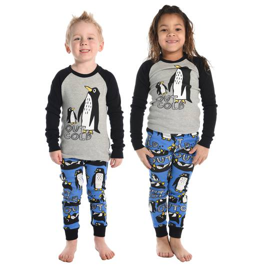 Kids Blue Out Cold Penguin Pajamas (All Kids Sizes 2- 10)