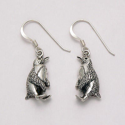 Penguin Silver Earrings Gift Jewelry
