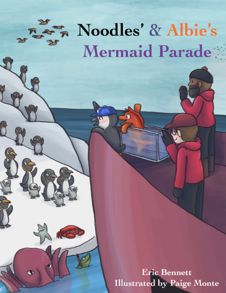 Noodles Albie Penguin Picture Book Mermaid Parade Coney Island Children's Story Gift Antarctica Falkland Islands King Emperor Rockhopper