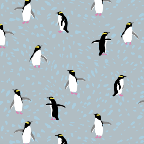 "Yellow-Eyed Penguin Scarf (75"" x 37"")"