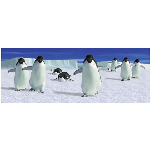 Penguin 3-D Bookmark of waddling Penguins On Ice