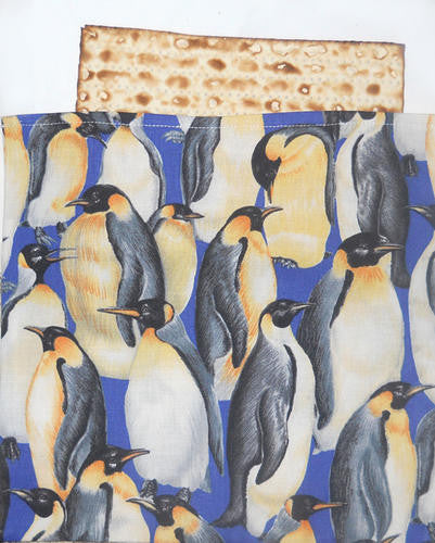Penguin Passover Aficomin Aficomen Bag Jewish Matzah Pouch Gift