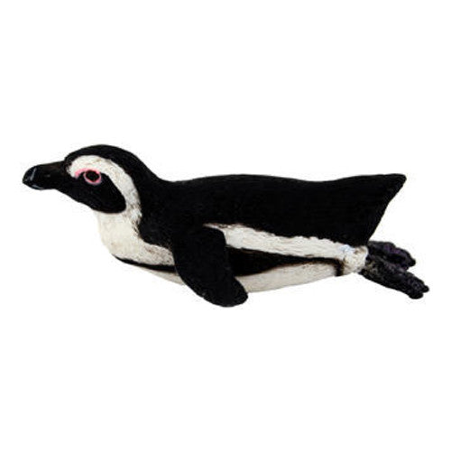 "Swimming African Penguin Figurine by Safari (2 1/2"" long)"