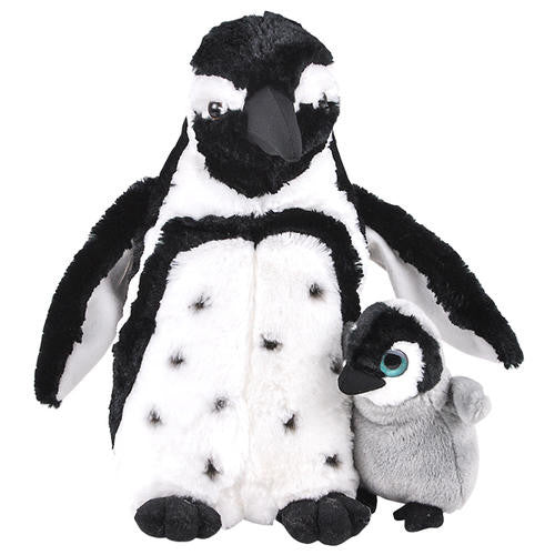 African Penguin Plush, Mom and Baby Penguin Stuffed Animal, Gift, Toy