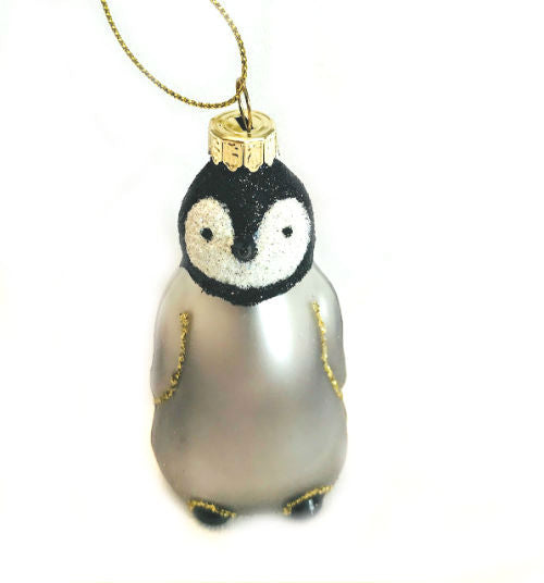 "Penguin Chick Glass Ornament (2 1/2"" Tall)"