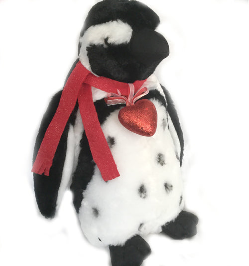 "Romantic Blackfoot Penguin (12"" Tall)"