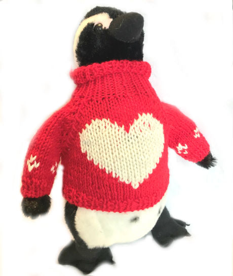 "Blackfoot Penguin Valentine's Day Plush (12"" Tall)"