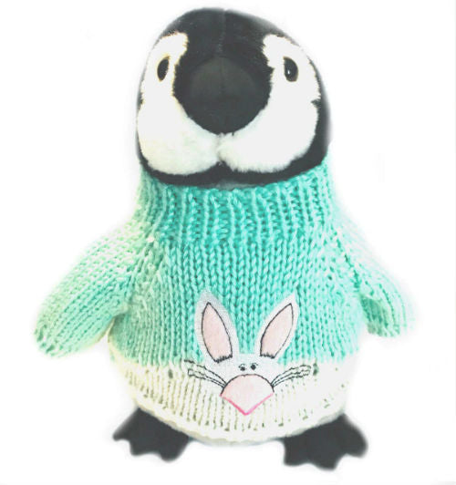 "Easter Bunny Penguin Plush Blue Sweater (10"" Tall)"