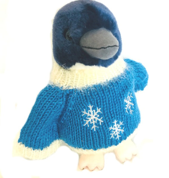 "Little Blue Penguin Holiday Plush (8"" Tall)"