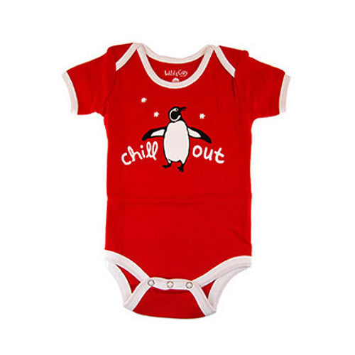 Penguin Onesie, Romper, Baby, Clothing, Gift, Chill Out, Red