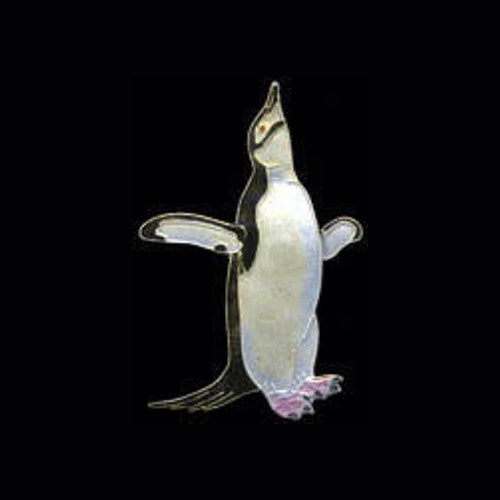 Penguin Brooch, Jewelry, Pin, Chinstrap, Gift