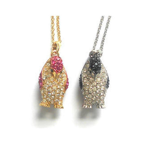 Crystal Penguin Pendants (Two Styles)