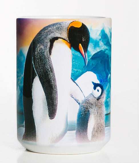 Emperor Penguin & Chick 15 oz Coffee Mug
