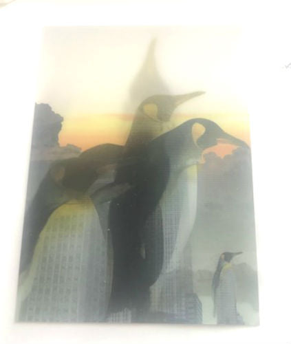 Penguin Turns Into Empire State Building 3-D Postcard