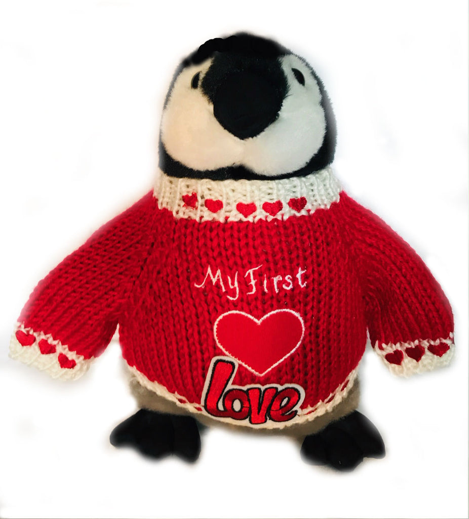 Penguin Plush Valentine Romantic Romance Love Stuffed Animal Toy Gift