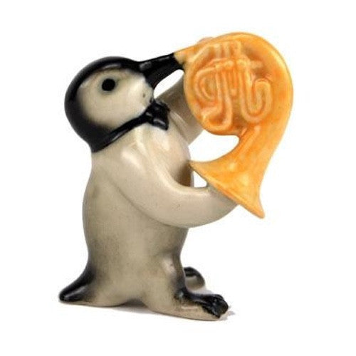 Penguin Figurine French Horn Player