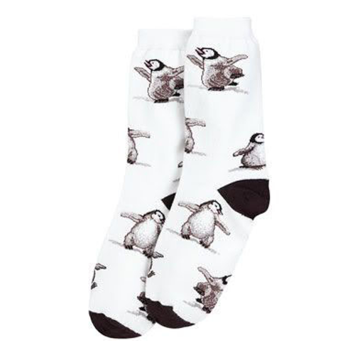 Fuzzy Penguin Kids Socks (toddler 0-3 and Child 8-13)