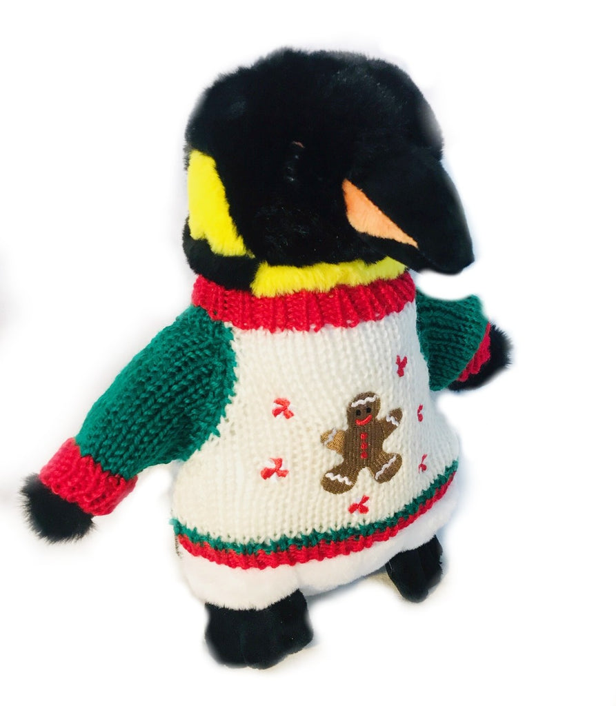 Penguin Plush, Gingerbread Man, Stuffed Animal, Christmas, Gift, Toy