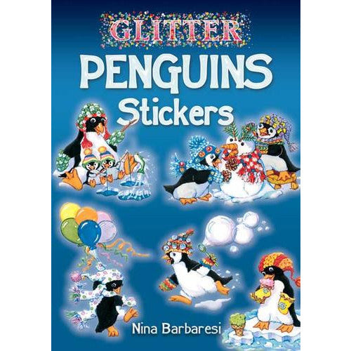 penguin sticker book glitter