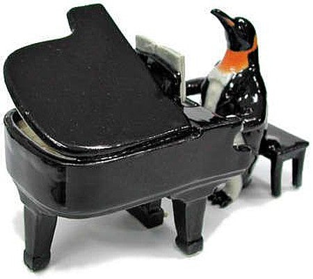 "Grand Piano Playing Penguin Figurine (2"" Tall)"