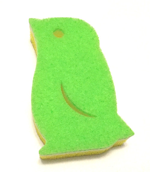 "Green Penguin Sponge (4 1/2"" Tall)"