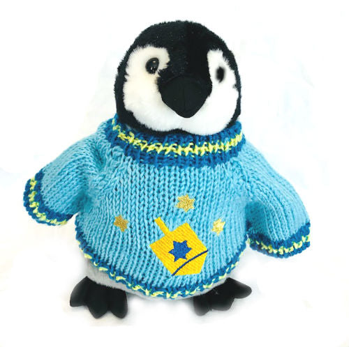 "Hanukkah Dreidel Penguin Plush (10"" Tall)"