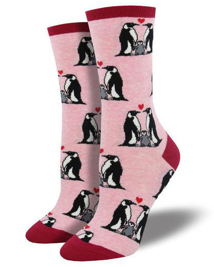 Penguin Love Socks (Size 9-11)