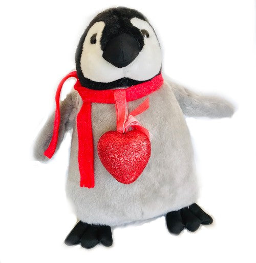 "Heart Penguin Valentine's Day  Plush (10"" Tall)"