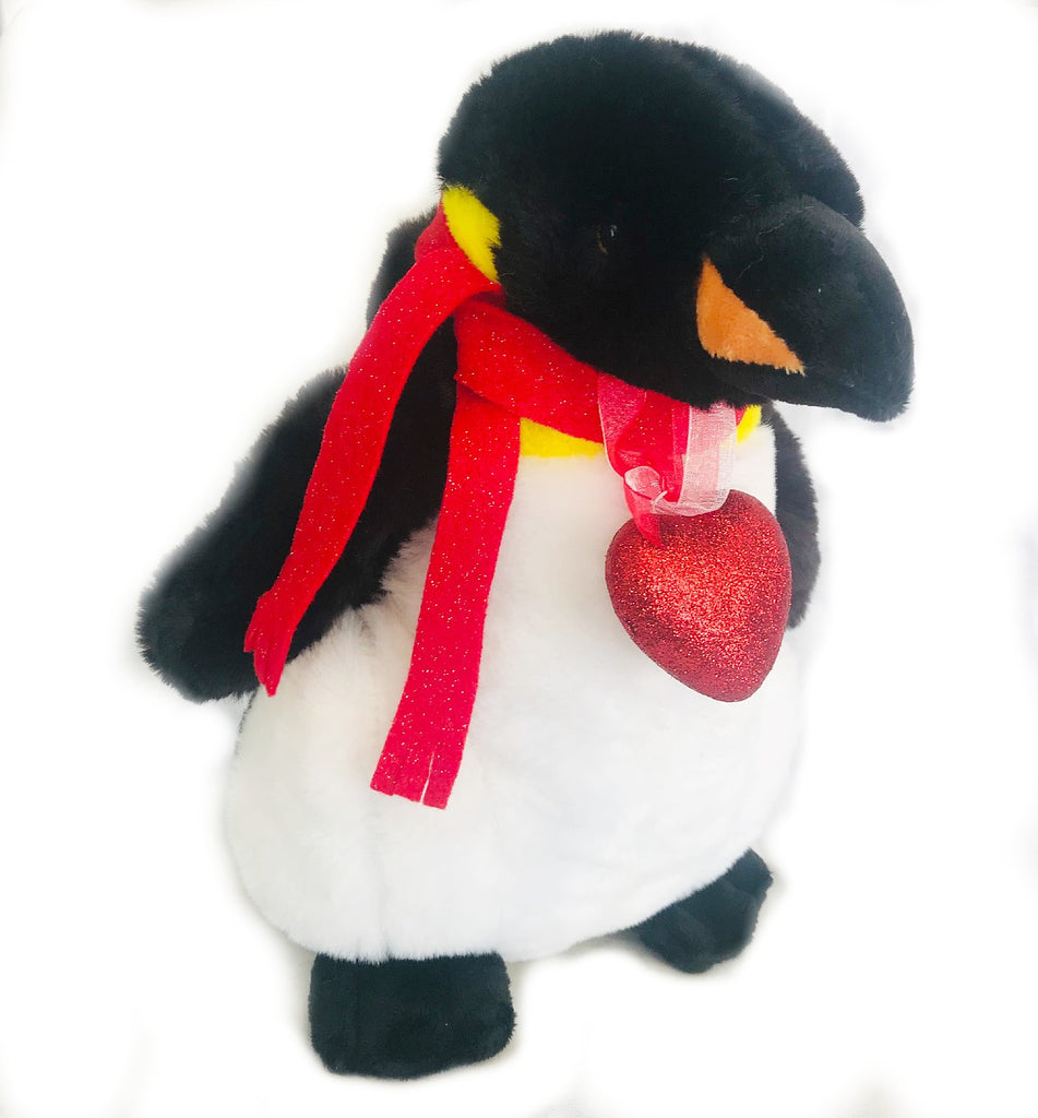 "Kristina Valentina Penguin with Heart (10"" tall)"
