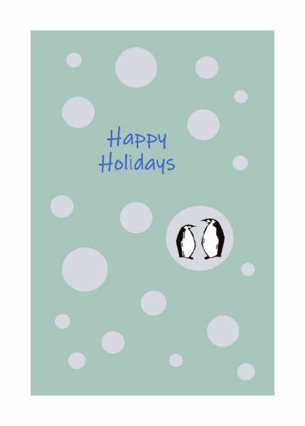 "Penguin Bubbles Holiday Card (5"" x 7"")"