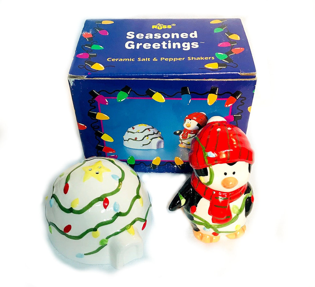 "Penguin & Igloo Holiday Salt & Pepper Shakers (3"" Tall)"