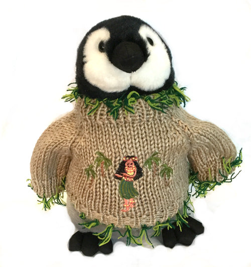 "Hula Penguin Plush (10"" Tall)"