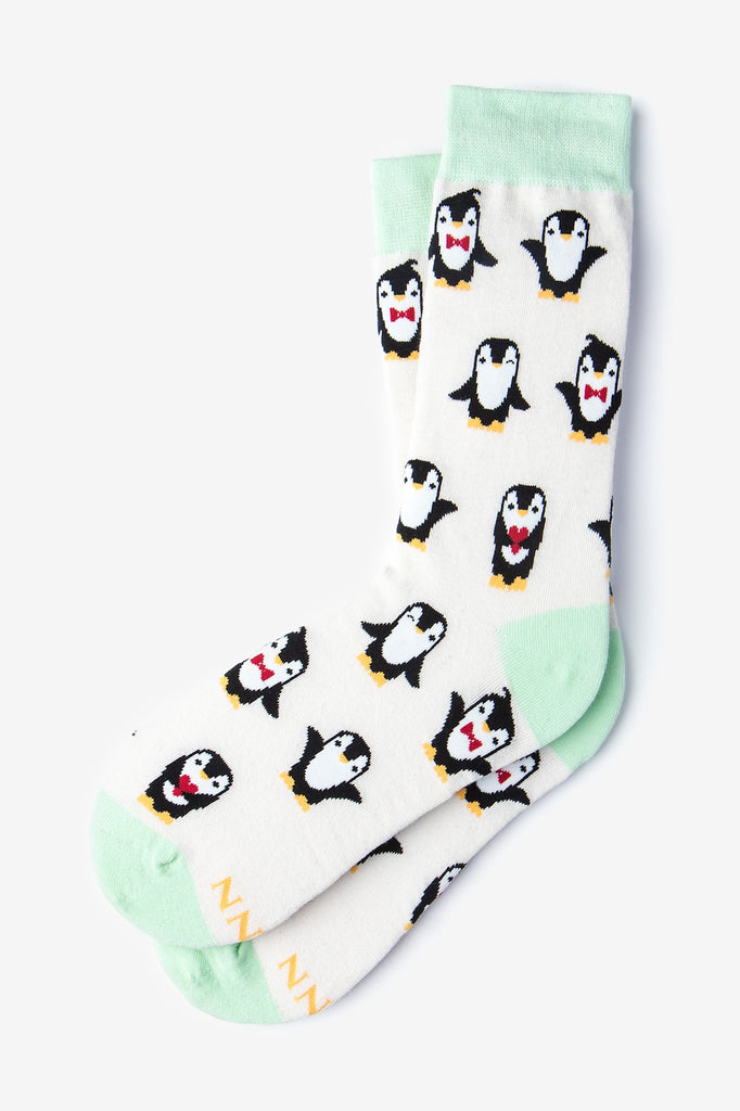 Penguins Are Chill Ivory Women's Socks (Size 9-11)