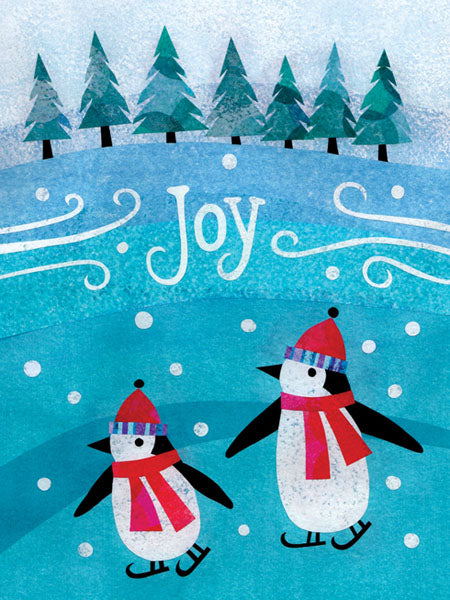 "Joy Penguins Holiday Card (4 1/2"" x 6"")"