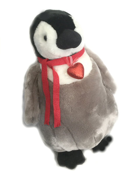 "Jumbo Lover Valentine Penguin Plush (21"" tall)"