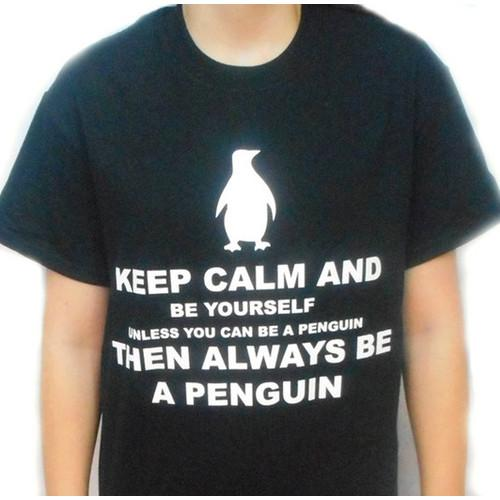 Penguin T-Shirt Tee Funny Humor Keep Calm Gift