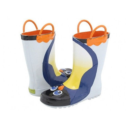 Kids Penguin Rain Boots (Sizes 6 & 7)