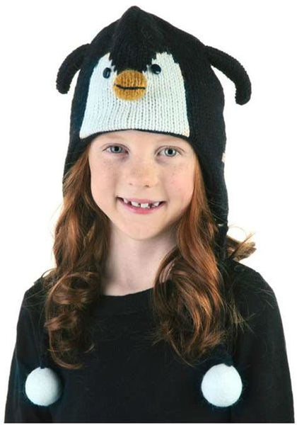 Kids Children's Peppy Penguin Knit Hat