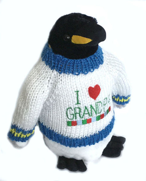 "I Love Grandpa King Penguin Plush (10"" Tall)"