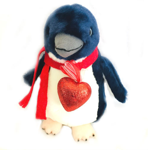 "Lovely Little Blue Romantic Penguin Plush ( 8"" Tall)"