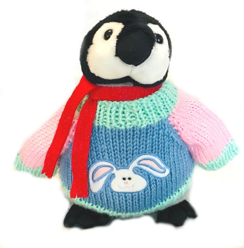 "Easter Bunny Penguin Plush with Scarf (10"" Tall)"